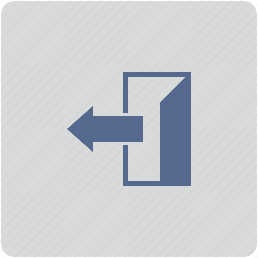 door, exit, form, way icon