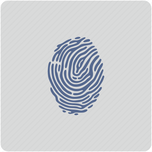 biometry, fingerprint, form, identity, person icon
