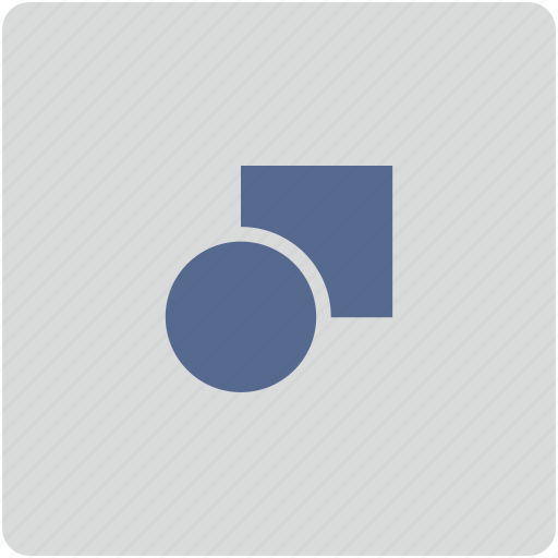 circle, figure, form, geometry, rectangle icon