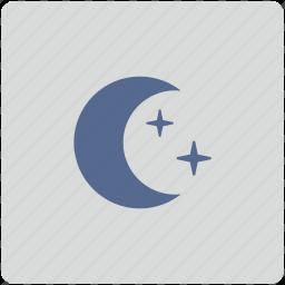 form, mode, moon, night, sky, stars icon