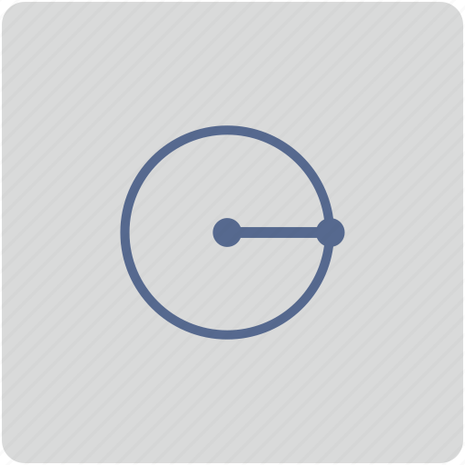 form, geometry, measure, radius, round icon
