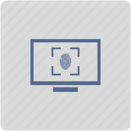 biometry, finger, form, monitor, scan icon