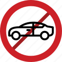 forbidden, police car, police vehicle, prohibited, stop icon