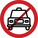 cab, car, forbidden, prohibited, taxi icon