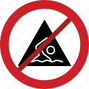 swimming, prohibited, skate, running, stop, cycle, forbidden icon