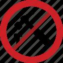 forbidden, hammer, nail, prohibited, mart