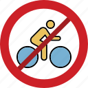 bicycle forbid, bicycle illegal, no bicycle, stop bicycle icon