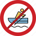 boating forbid, boating illegal, boating prohibition, no boating, stop boating icon