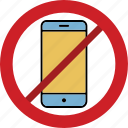 mobile phone blocked, mobile phone forbid, mobile phone prohibition, no mobile phone, stop mobile phone icon