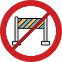 barrier, fence, forbidden, railing, stop icon