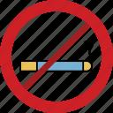 cigarette, forbidden, prohibited, smoking, stop icon