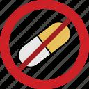 dragee, drug, forbidden, medicament, medicine icon