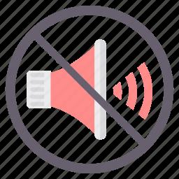 no audio, no music, no volume, silence icon
