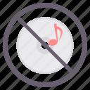 no audio, no music, no sound, prohibited