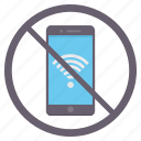 connection, mobile, no internet, no wifi, phone, prohibited