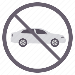driving, no car, no driving, no entry, prohibited icon