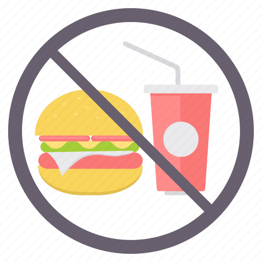 dont eat, eating, no drink, no food, no meal, prohibited icon