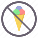 avoid, icecream, no, no ice cream, prohibited icon