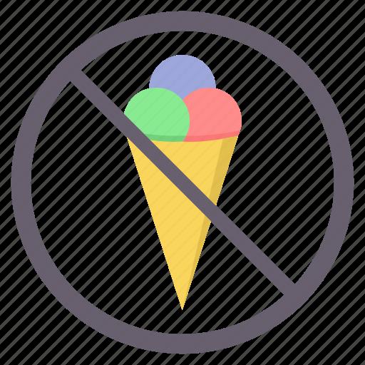 avoid, icecream, no, no ice cream, prohibited icon