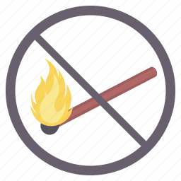 alert, danger, fire, flame, no fire, sign, signs icon