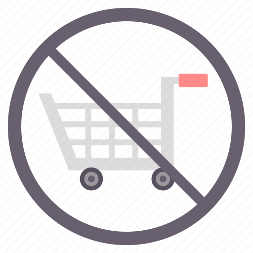 avoid, close, no, no shopping, shop icon