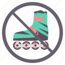 no scate, prohibited, scatting, sign, signs, warning icon