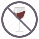 alchohal, area, avoid, drink, no wine, prohibited
