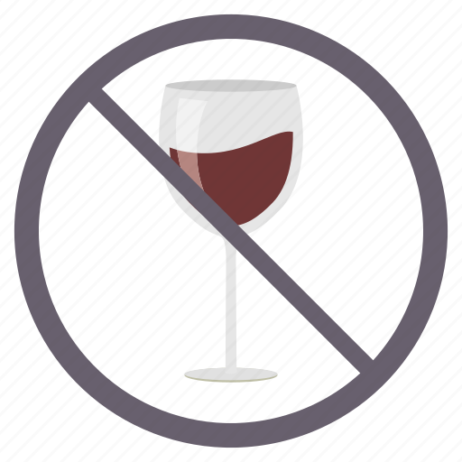 alchohal, area, avoid, drink, no wine, prohibited icon