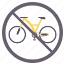 area, cycle crossing, no, prohibited icon