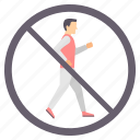 area, cross, dont run, no crossing, sign, signs icon