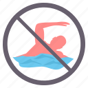 danger, no bathing, no diving, no swimming, prohibited, signs, warning icon