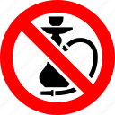ban, hookah, no, prohibition, sign, smoke icon