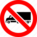 ban, lorry, prohibition, sign, transport, truck icon