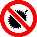 ban, durian, no, prohibition, sign icon