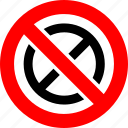 ban, no, prohibition, sign icon