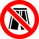 ban, no, prohibition, shorts, sign icon