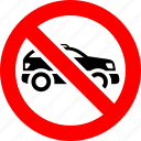 ban, car, no, prohibition, sign, suv icon
