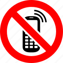 ban, no, phone, prohibition, sign icon