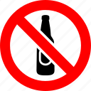 alcohol, ban, beer, bottle, no, prohibition, sign
