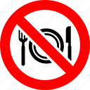 ban, cafe, food, no, prohibition, restaurant, sign