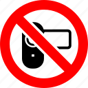 ban, camcorder, movie, no, prohibition, sign, video camera