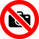 ban, camera, no, photo, prohibition, sign icon