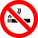 ban, cigarette, no, no smoking, prohibition, sign icon