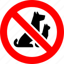 animals, ban sign, cat, dog, no, pet, prohibition