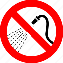 ban, no, not spray water, prohibition, sign