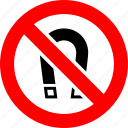 ban, magnet, no, prohibition, sign icon