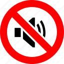 ban, forbidden, loud sound, no, noise, prohibition, sign