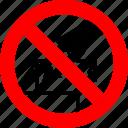 ban, do not reach inside, no, prohibition, sign