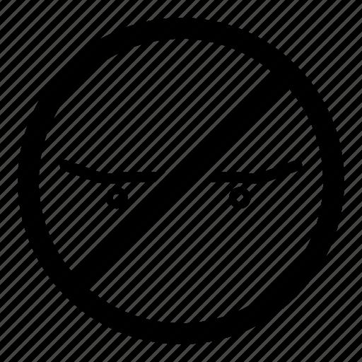 no skateboarding, prohibited, skate, skate prohibited, skateboard, skateboarding prohibited icon