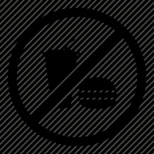 fast food, no drink, no eating, no food, no grub, prohibited icon